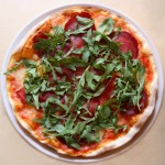 Tasty pizza in just opened Bocconcino pizzeria chain in Moscow