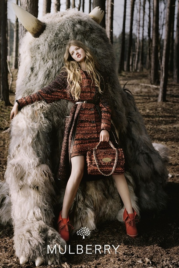 Wild thing: Mulberry's fall/winter 2012-2013  ad campaign