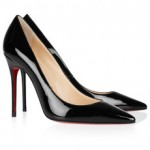 Christian Louboutin's iconic 'Decollete' patent-leather pumps