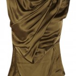 Item of the day-Donna Karan's olive-brown satin top