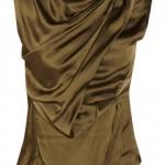 Item of the day-Donna Karan's olive-brown satin top