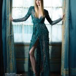 """In My Castle"" Model Maud Welzen in Haute Couture for the November 2012 Issue of Harper's BAZAAR by Benjamin Kanarek"
