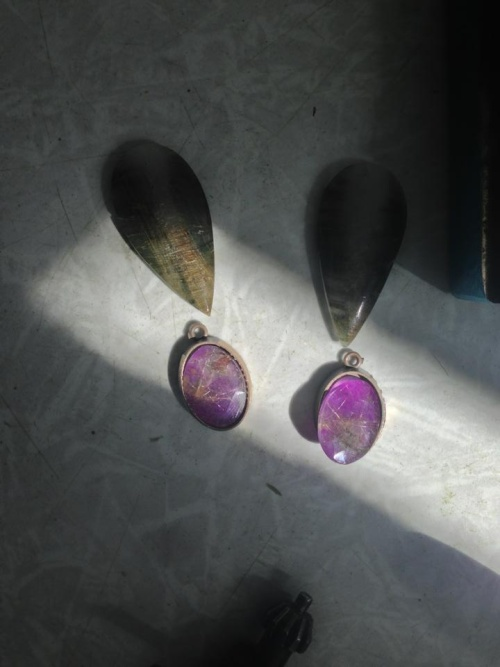 My earrings are in the process )