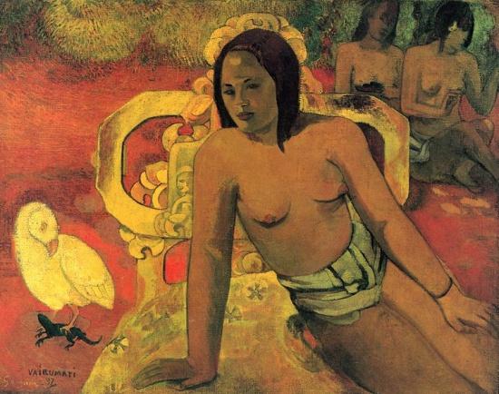 Vairumati, by Paul Gauguin (1897)