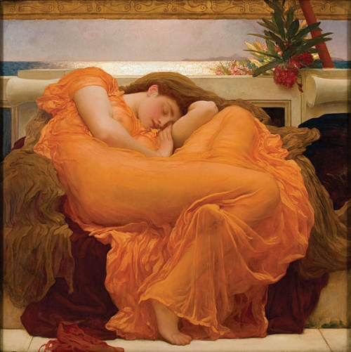 Flaming June, by Lord Leighton (1895); source: Artrenewal.org