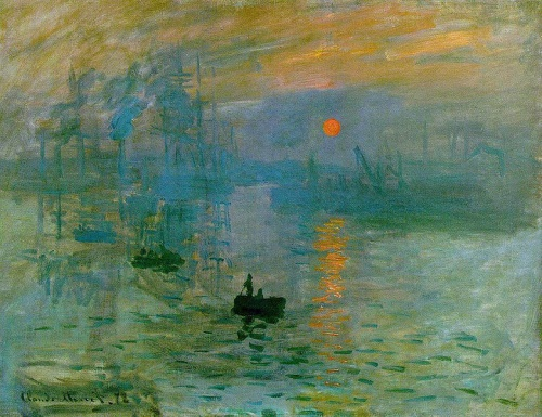 Impression- Sunrise by Claude Monet (1872) ; source: wikipedia