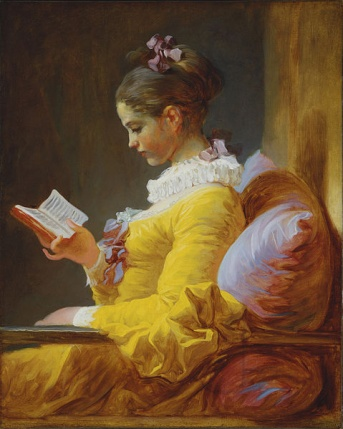 A Young Girl Reading, or The Reader. Jean-Honoré Fragonard, ca. 1776