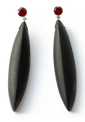 Ruby Sunset earrings, Jewelum