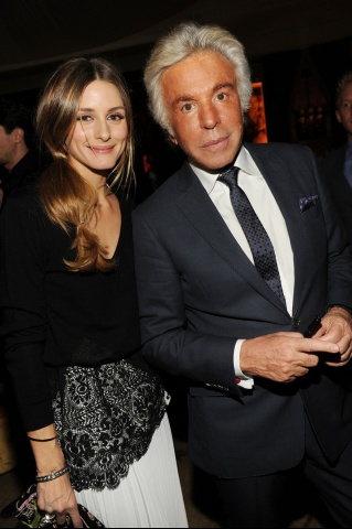 Olivia Palermo and and Giancarlo Giammetti