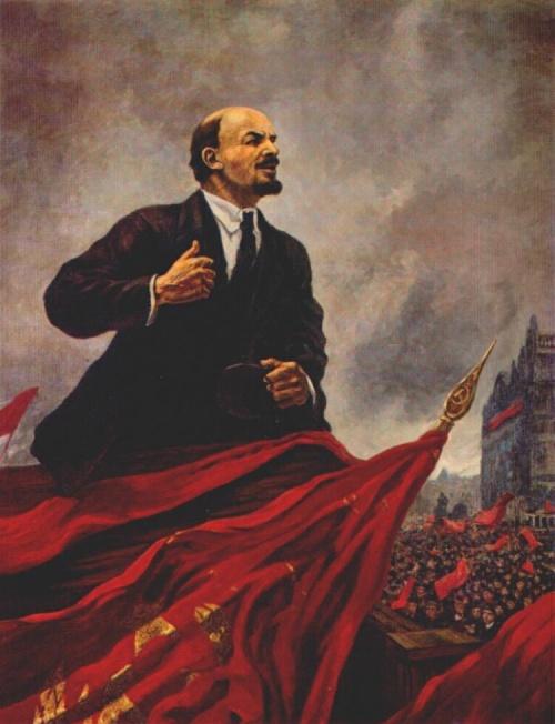 Lenin on the tribune, 1930