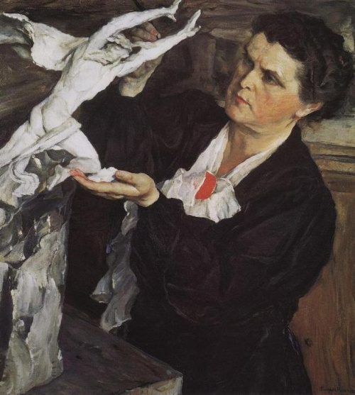 Portrait of the sculptor Vera Mukhina, by Nesterov, 1940 (www.tretyakovgallery.ru)